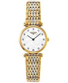 Women's Swiss La Grande Classique De Longines Two-Tone PVD Stainless Steel Bracelet Watch 24mm L42092877