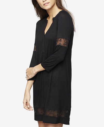 A Pea In The Pod Maternity Lace-Trim Nightgown