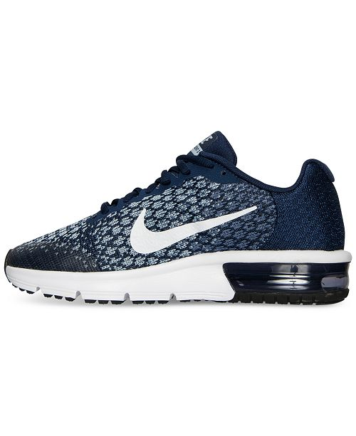 4cbd7c20c02 ... Nike Big Boys  Air Max Sequent 2 Running Sneakers from Finish Line ...