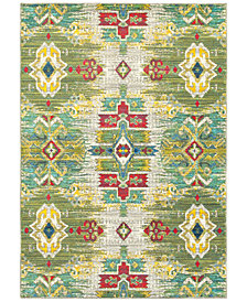 "CLOSEOUT! JHB Design Vibe Sierra Green 6'7"" x 9'6""Area Rug"