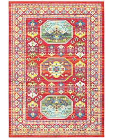 "JHB Design Vibe Inca Red 6'7"" x 9'6""Area Rug"