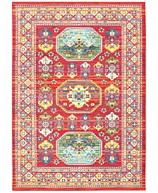 "CLOSEOUT! JHB Design Vibe Inca Red 7'10"" x 10'10"" Area Rug"