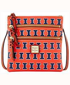 Dooney & Bourke Illinois Fighting Illini Triple-Zip Crossbody Bag