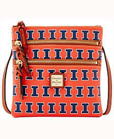 Dooney & Bourke Illinois Fighting Illini Triple-Zip Crossbody Bag