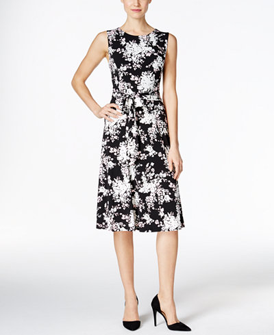 Charter Club Floral Print Fit Amp Flare Dress Only At Macy