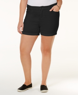 Trendy Plus Size High-Waisted Denim Shorts