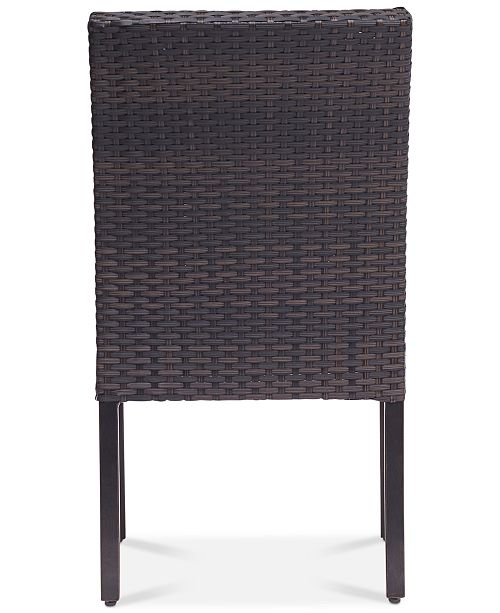 Furniture Closeout Savannah Outdoor Armless Dining Chair Created For Macy S