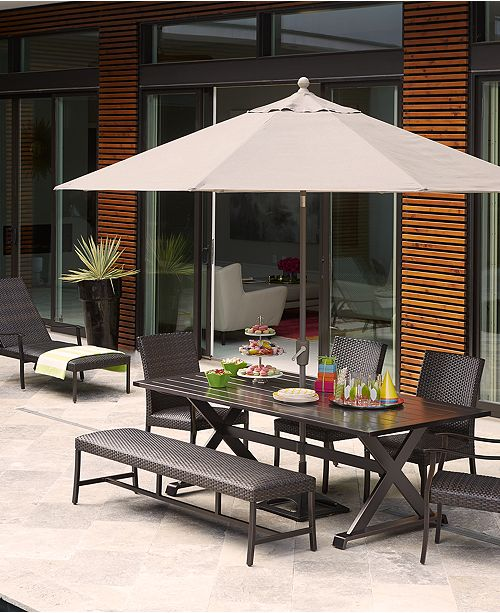 Furniture CLOSEOUT! Savannah Outdoor Dining Collection, with Sunbrella®  Cushions, Created for Macy's - Furniture - Macy's - Furniture CLOSEOUT! Savannah Outdoor Dining Collection, With
