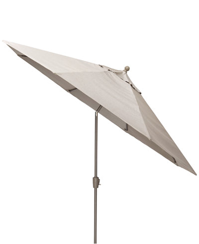 Wayland Outdoor 11' Auto-Tilt Umbrella, with Sunbrella® Fabric, Created for Macy's