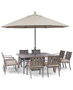 Wayland Outdoor Dining Collection Furniture Macys - Aluminum dining table