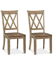 Carsen X-Back Chairs, Set of 2