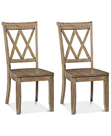 Carsen Set of 2 X-Back Chairs, Quick Ship