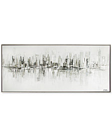 Graham & Brown New York Reflections Handpainted Framed Canvas Wall Art