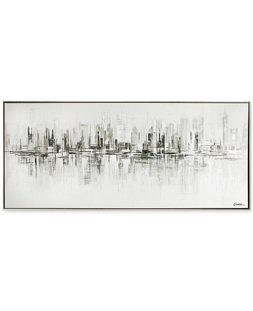 Graham & Brown New York Reflections Handpainted Framed Canvas Wall ...