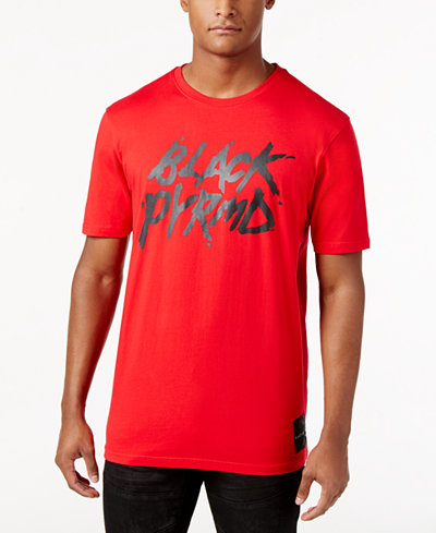 Black Pyramid Men's Text Logo T-Shirt
