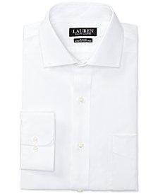 Lauren Ralph Lauren Men's Slim-Fit Stretch Non-Iron Solid Dress Shirt