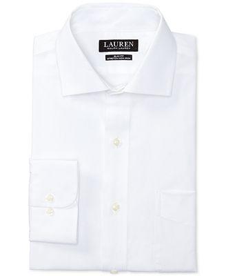Lauren Ralph Lauren Men's Slim-Fit Stretch Non-Iron Solid Dress ...