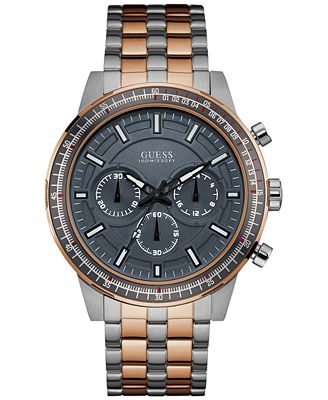 GUESS Men's Chronograph Two-Tone Stainless Steel Bracelet Watch 45mm U0801G2