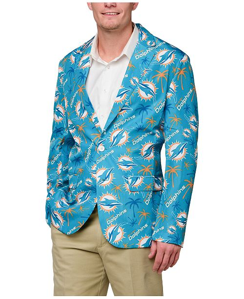 f14eeef33fd Forever Collectibles Men s Miami Dolphins Fan Suit Jacket   Reviews ...