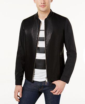 Armani Exchange Men's Mixed Media Jacket - Coats & Jackets - Men ...
