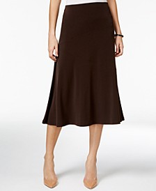 Petite Diagonal-Seam Midi Skirt, Created for Macy's