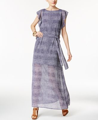 MICHAEL Michael Kors Zephyr Printed Maxi Dress