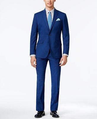 Kenneth Cole Reaction Men's Slim-Fit Bright Blue Suit - Suits ...