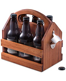 6-Pack Wooden Caddy