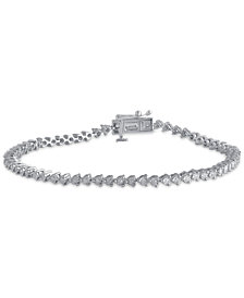 Diamond Tennis Bracelet 1 2 Ct T W In Sterling Silver
