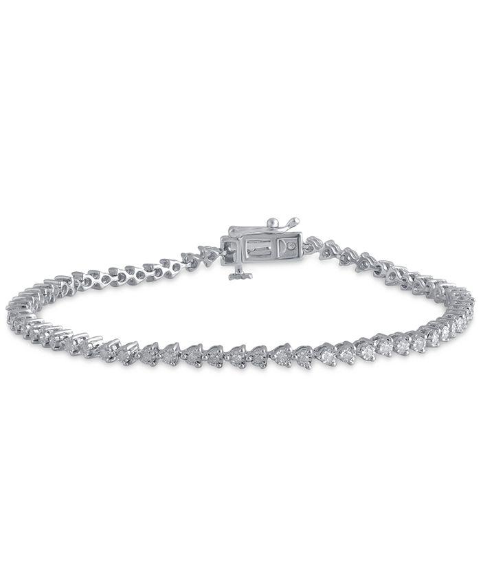 Macy's - Diamond Tennis Bracelet (1/2 ct. t.w.) in Sterling Silver