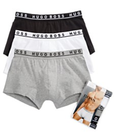 BOSS Men's Underwear Cotton Stretch 3 Pack Trunks