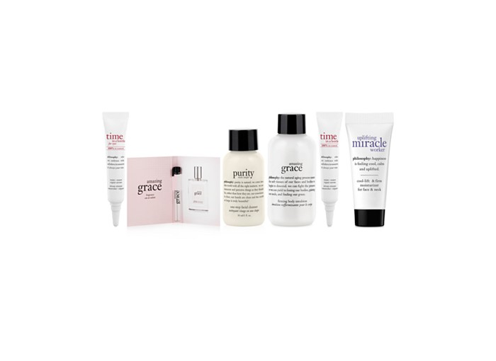 Receive a free 6-piece bonus gift with your $50 philosophy purchase