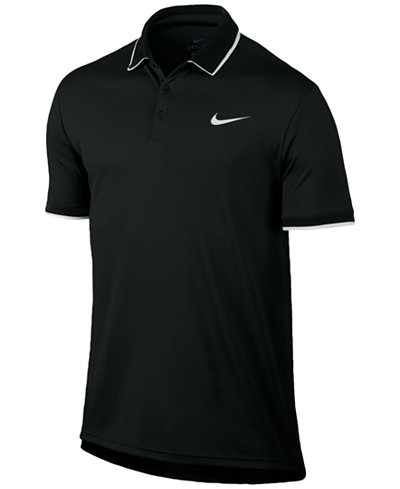 nike men 39 s court dry tennis polo polos men macy 39 s. Black Bedroom Furniture Sets. Home Design Ideas