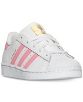5cb6ff9db18d adidas Little Girls' Superstar Casual Sneakers from Finish Line