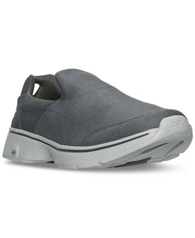 Skechers Men's GOwalk 4 - Leather Textile Walking Sneakers from Finish Line