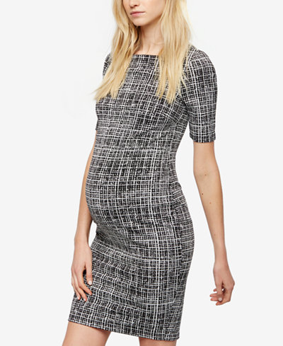 A Pea In The Pod Maternity Jacquard Sheath Dress