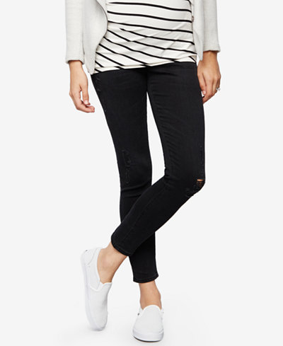 AG Jeans Maternity Black Wash Skinny Jeans