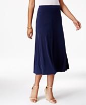 4921e1d3455 JM Collection Diagonal-Seam Midi Skirt