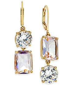 kate spade new york Gold-Tone Crystal Mismatch Earrings