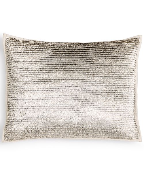 "Calvin Klein Metallic Fringe 12"" x 16"" Decorative Pillow"