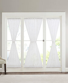 "Madison Park Irina 52"" x 40"" Embroidered Diamond Sheer Door Panel"
