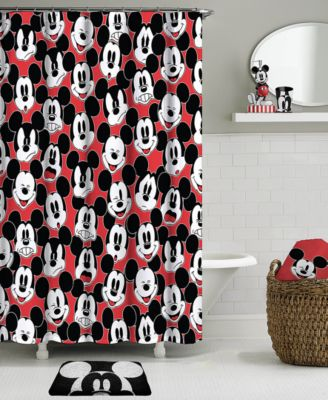 Big Face Mickey Mouse Shower Curtain