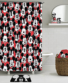 Jay Franco Big Face Mickey Mouse Shower Curtain