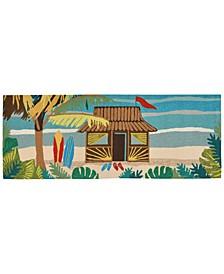 Liora Manne Front Porch Indoor/Outdoor Tiki Hut Multi 2' x 3' Area Rug