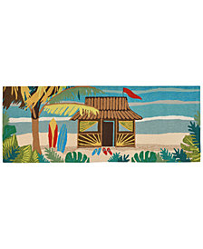 "Liora Manne Front Porch Indoor/Outdoor Tiki Hut Multi 2'6"" x 4' Area Rug"
