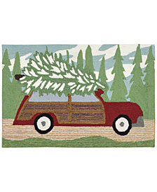 Liora Manne Front Porch Indoor/Outdoor Woody Wonderland Pine Area Rug