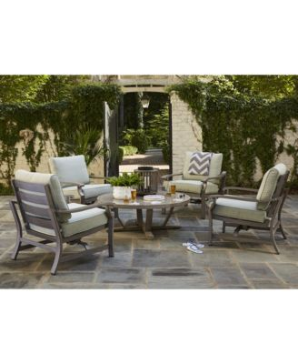 Tara Aluminum Outdoor 5-Pc. Seating Set (48