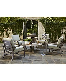 Tara Outdoor Chat Set Collection, with Sunbrella® Cushions, Created for Macy's