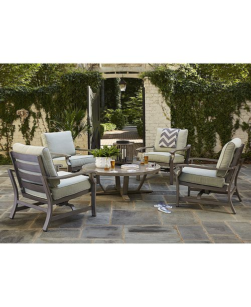 Macys Furniture Showroom: Furniture Tara Outdoor Chat Set Collection, With Sunbrella