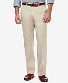 Haggar Men's Premium Straight-Fit Non-Iron Stretch Flat-Front Pants